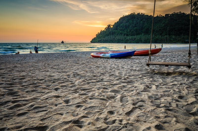 Ko Kut ,district of Trat Province, Thailand. Beach of Ko Kut ,district of Trat Province, Thailand stock photography