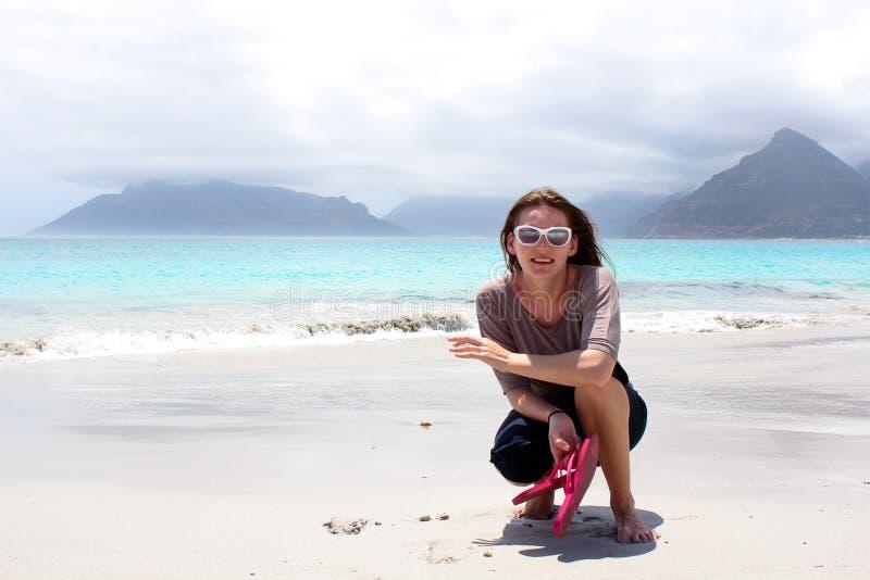 Beach of Kommetjie stock image