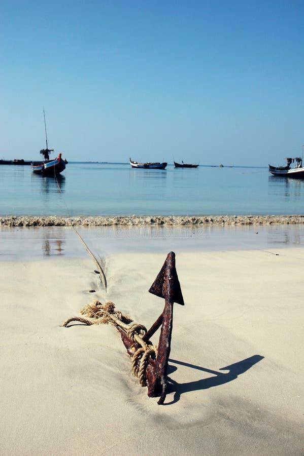 beach kotwicowa zdjęcie royalty free