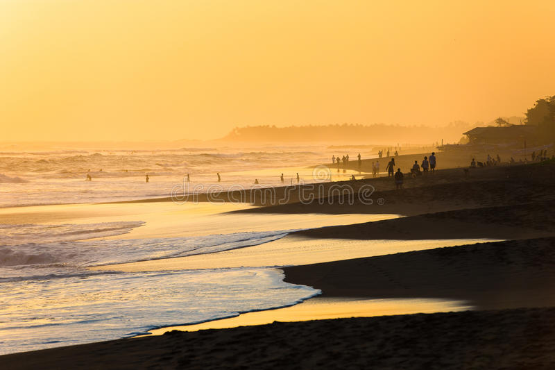 Beach of Kuta in Bali stock photos