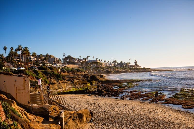 Beach, La Jolla, California fotografia stock libera da diritti