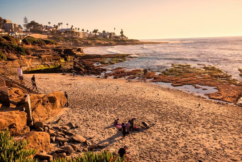 Beach, La Jolla, California immagini stock libere da diritti