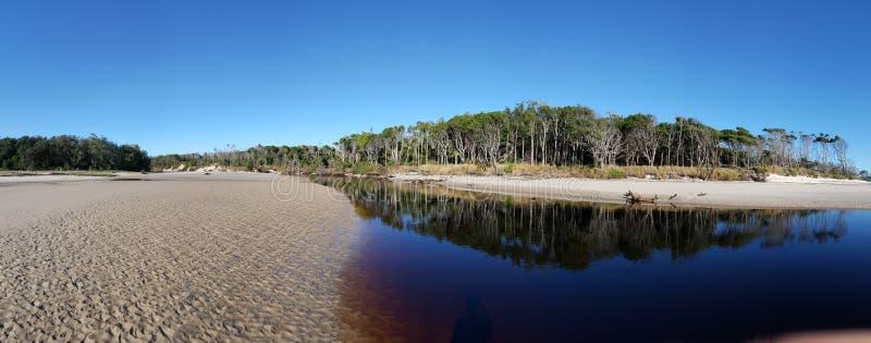 Beach lagoon royalty free stock photography