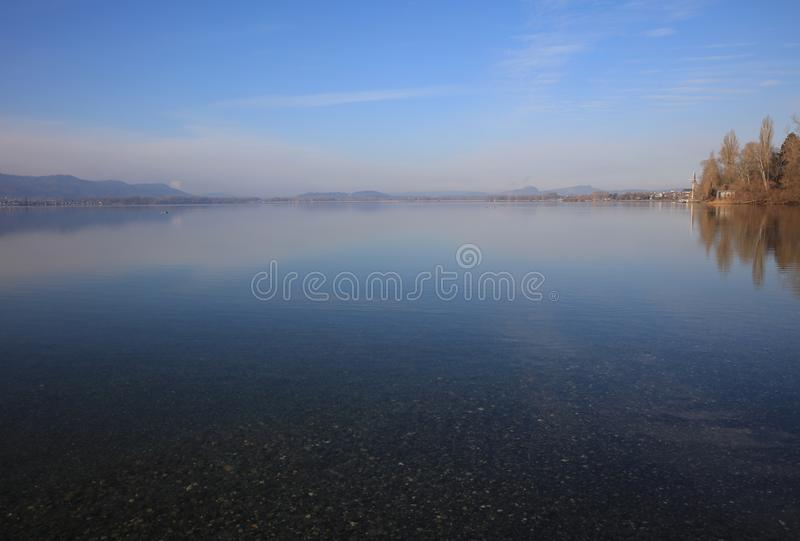 The Beach of Lake Constance at Radolfzell stock photography