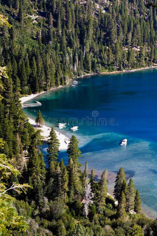 Beach In The Lake Tahoe Royalty Free Stock Photo