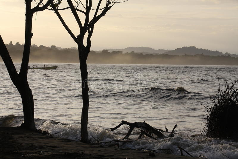 Beach landscape in Costa Rica stock photography