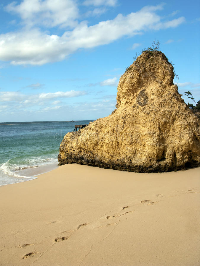 Download Beach Landscape With A Rock Stock Photo - Image: 12583114