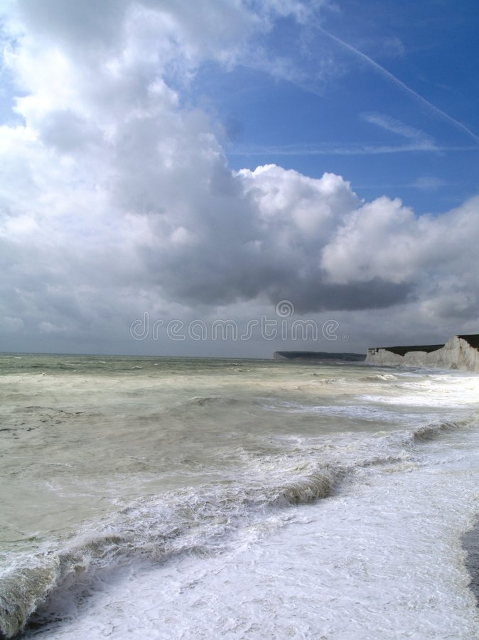 Beach Landscape, Sussex, England royalty free stock photography