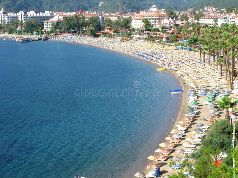 Beach landscape turkey coastline royalty free stock images
