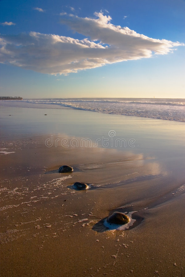 Free Beach Landscape With Rocks Vertical 2 Stock Images - 456124