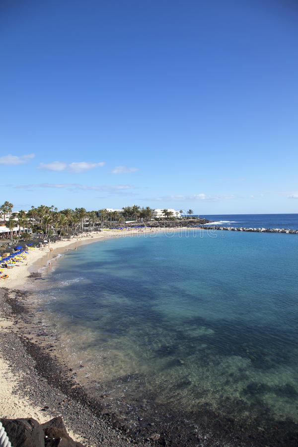 Beach in Lanzarote royalty free stock images