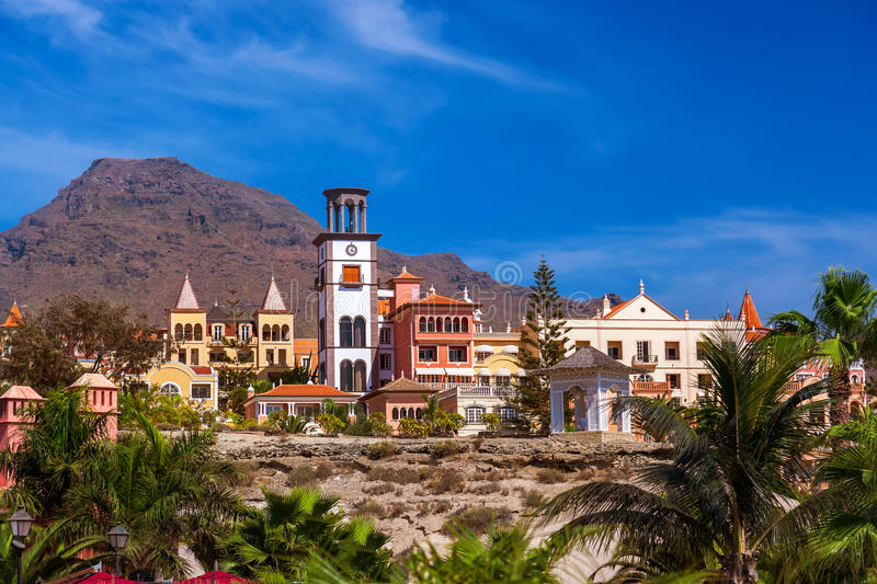 Beach Las Americas in Tenerife island - Canary. Spain royalty free stock images
