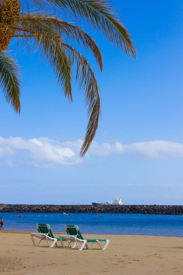 Beach las Teresitas, Tenerife, Spain royalty free stock image