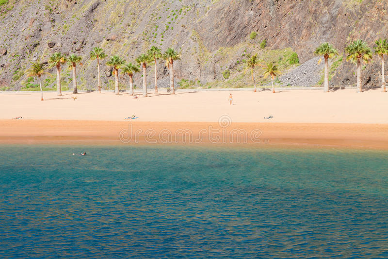 Beach Las Teresitas, Tenerife, Spain stock image