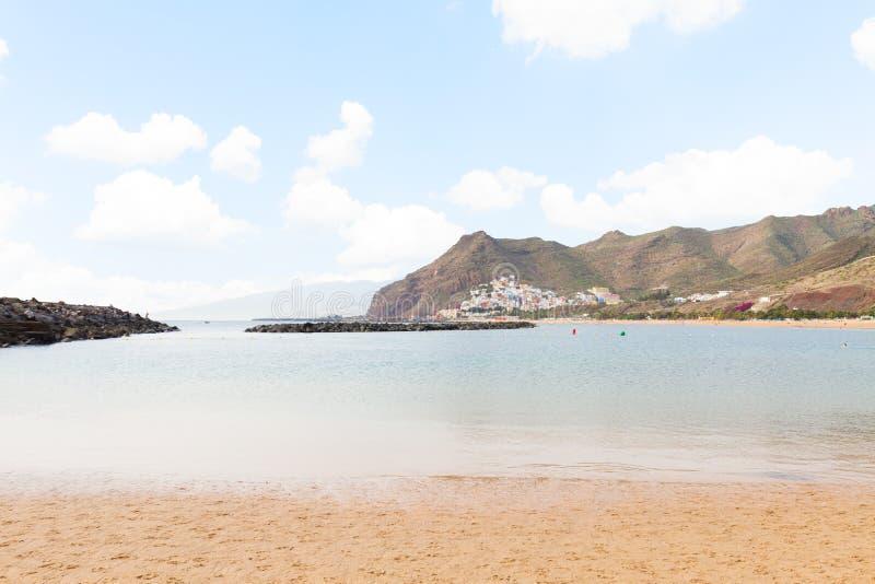 Beach Las Teresitas, Tenerife, Spain royalty free stock photography