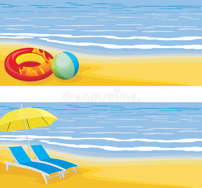 Download Beach leisure. Banner stock vector. Image of rubber, objects - 31245214