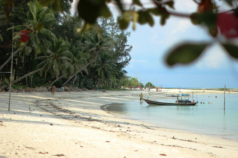 Beach life style in Thailand royalty free stock image