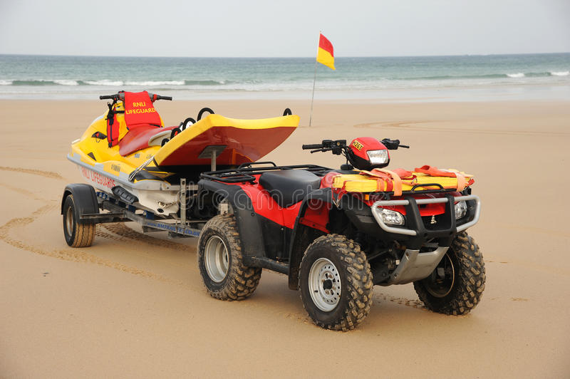 Download Beach Lifeguard Rescue Bike Editorial Stock Image - Image of english, assistance: 21762834