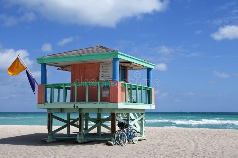 Beach lifeguard tower stock photography
