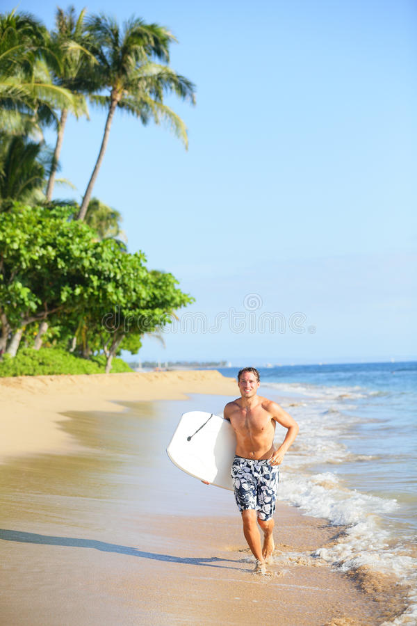 Download Beach Lifestyle Man Surfer With Surfing Bodyboard Stock Photo - Image: 30934822