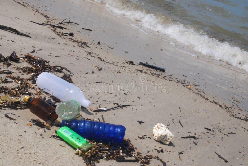 Beach Litter stock image
