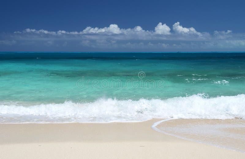 A beach of Little Exuma, Bahamas. A desert beach of Little Exuma, Bahamas stock photos