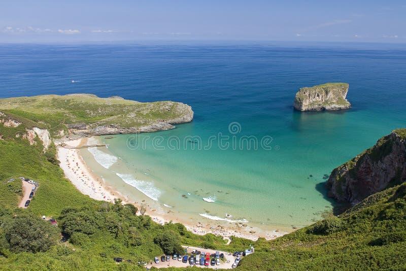 Beach in Llanes, Spain. Ballota beach in Llanes, Asturias, Spain stock photography