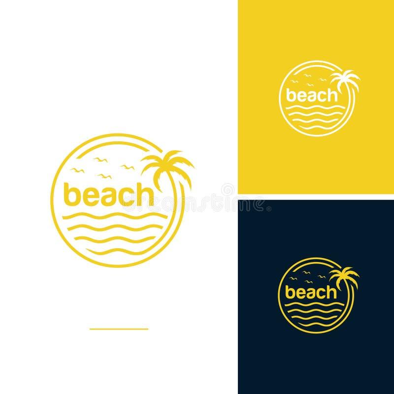 Beach logo design vector vector illustration