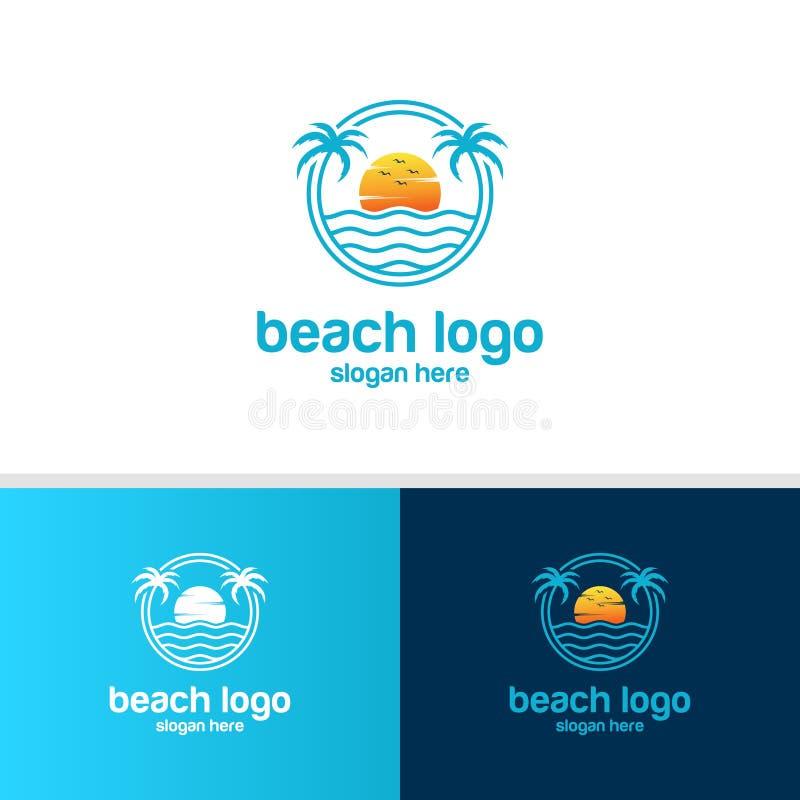 Beach logo design vector royalty free illustration
