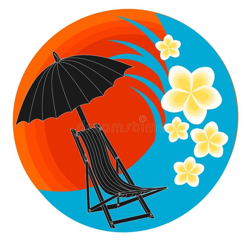 Beach Logo vector. Beach logo design with isolated background vector stock illustration