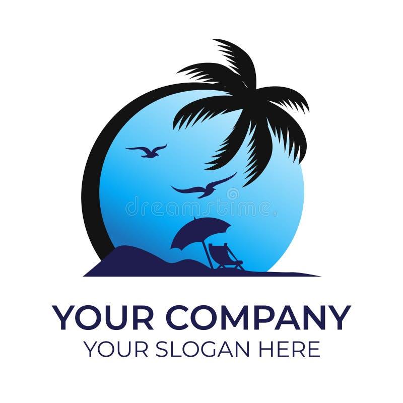 Beach logo vector template. Beach logo design with modern concepts vector template on white background vector illustration