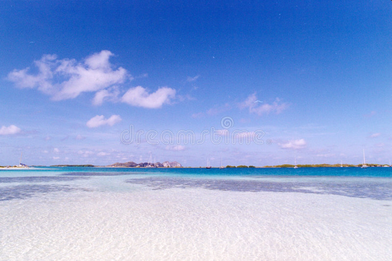 Download Blue Sky Over White Sandy Beach Stock Photo - Image: 2302240