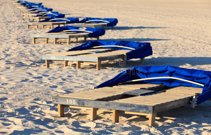 Beach Lounge Chairs stock image