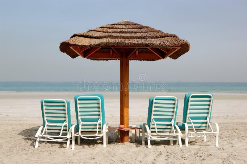 Beach of the luxury hotel stock image