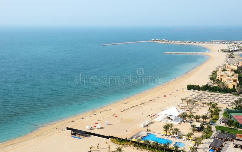 Download Beach of the luxury hotel stock image. Image of middle - 33819935