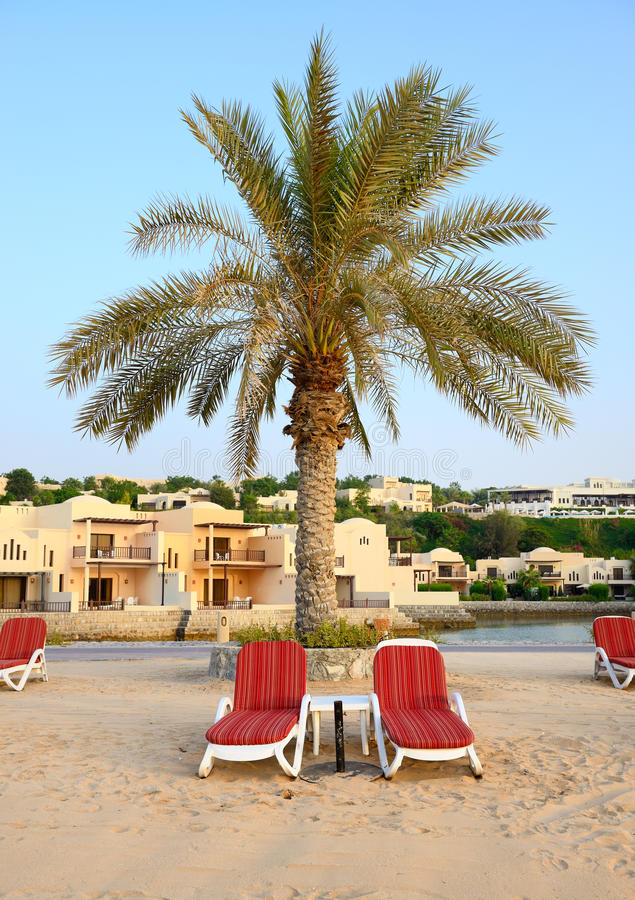 Download Beach Of The Luxury Hotel During Sunset Stock Image - Image: 34012601