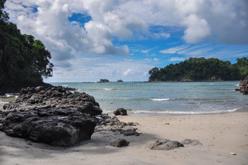 Beach at Manuel Antonio National Park, Costa Rica.  stock photo
