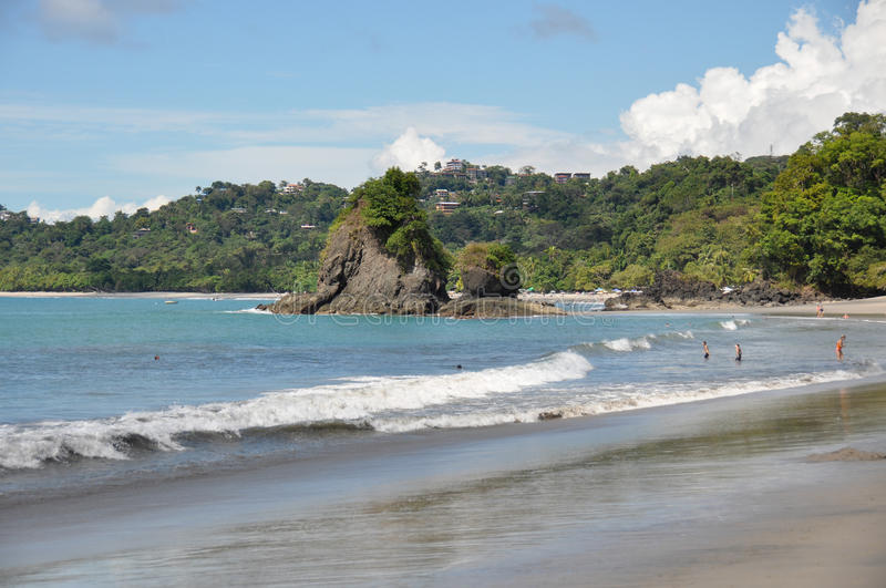 Beach at Manuel Antonio National Park, Costa Rica.  royalty free stock images