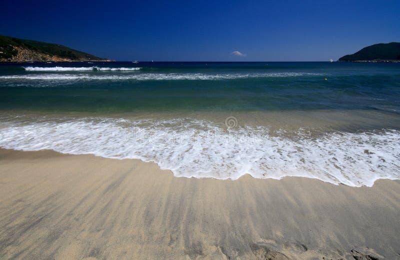 Beach Of Marina Di Campo Royalty Free Stock Photo