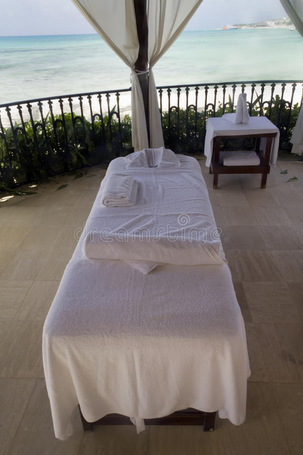 Download Beach Massage Table stock image. Image of beach, equipment - 31508601