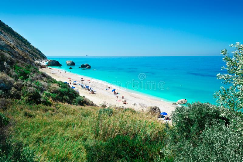 Beach Megali Petra royalty free stock photography