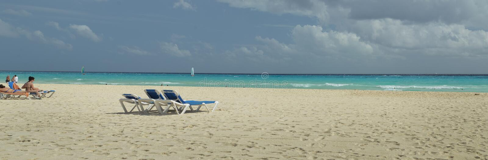 Beach in Mexico stock image