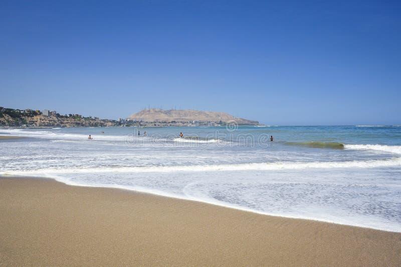 Beach in Miraflores district in Lima, Peru. South America stock photos