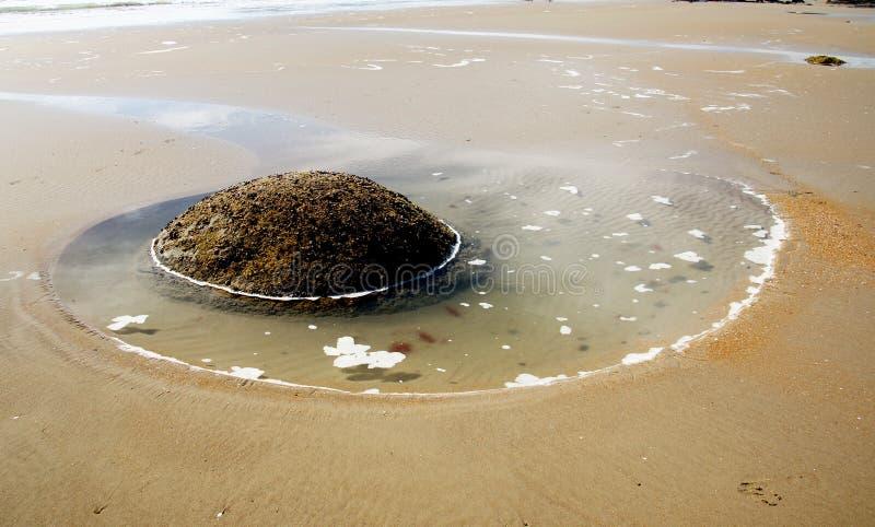 On the beach Moeraki.NZ royalty free stock photo