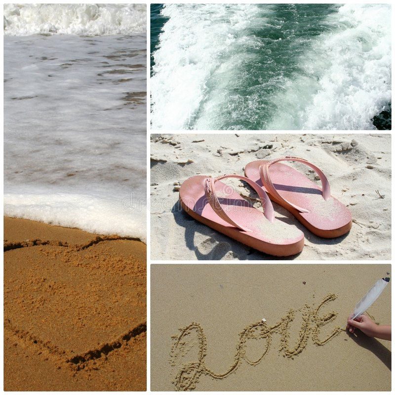 Beach Montage stock photography