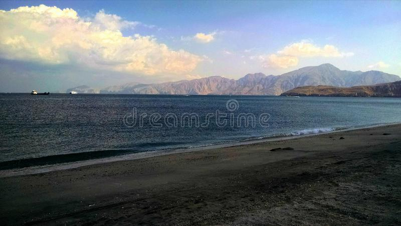 Beach in musandam royalty free stock photos
