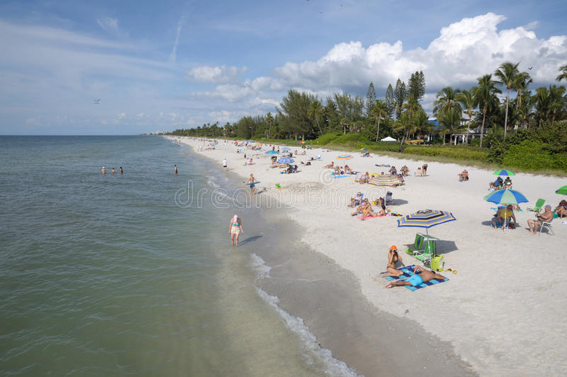 Beach in Naples, Florida stock photo