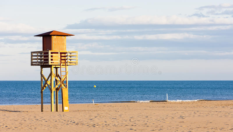 Download Beach in Narbonne Plage stock photo. Image of guard, department - 27009722