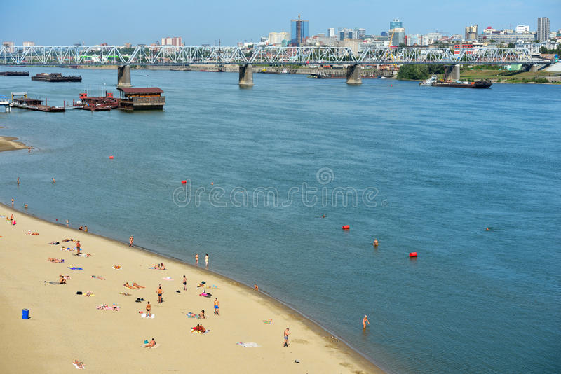 Beach Nautilus in Novosibirsk, Russia stock photos