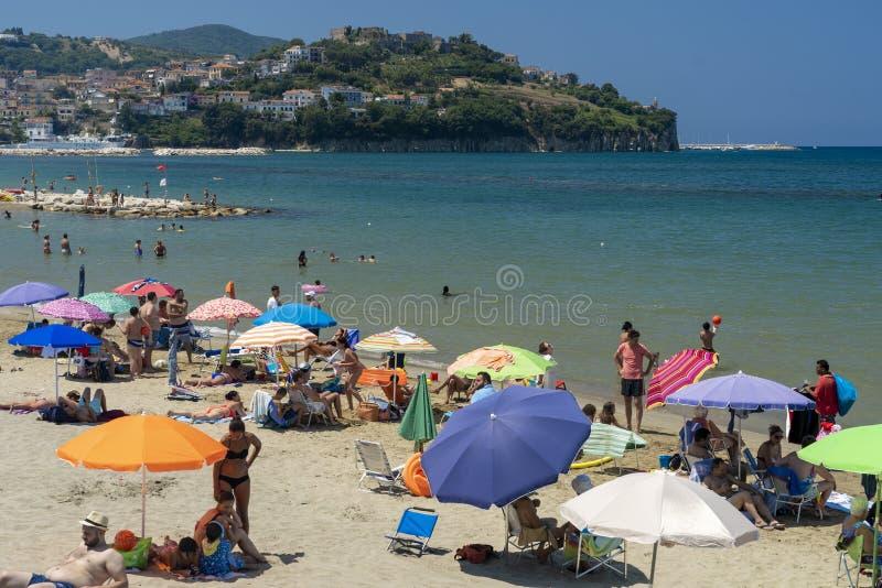 Beach near Agropoli, Salerno stock image